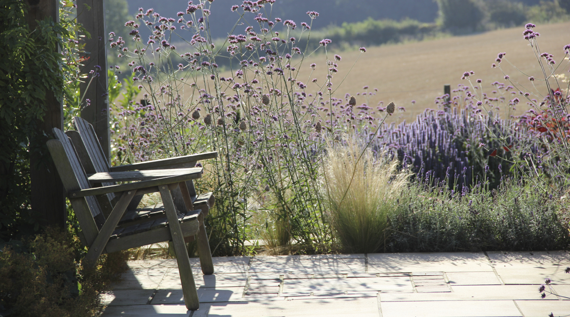 Hertfordshire barn garden design and stunning planting by Amanda Broughton