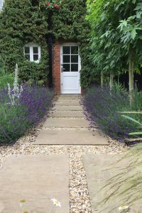 Pretty cottage style garden design in Hitchin, Herts.