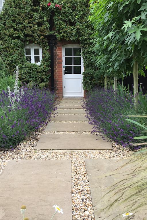 Pretty cottage style garden design in Hitchin, Herts.