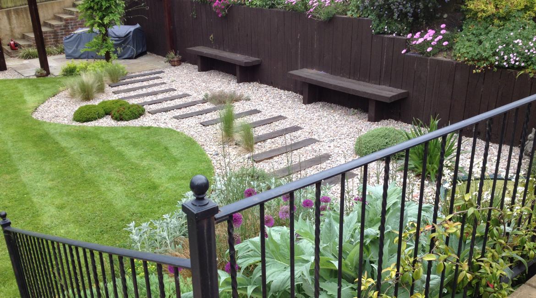 Totteridge Lane sloping garden design