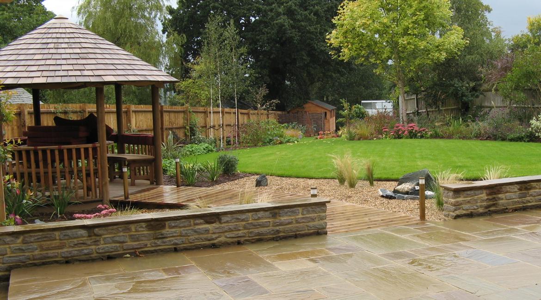 Formal to informal area, garden designed by Amanda Broughton