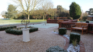 Formal and low maintenance school garden design in Hertfordshire by Amanda Broughton