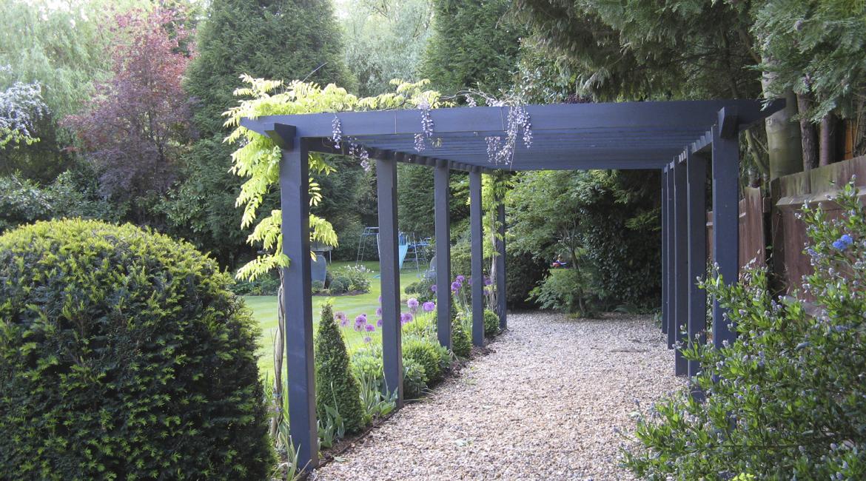 Stunning planting, pergola and garden in Hadley Wood