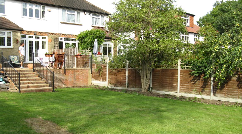 North London garden before re-design