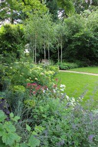 Beautiful borders in traditional country garden by Amanda Broughton Garden Design