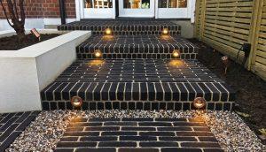 Lighting the Vande Moortel paved steps