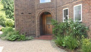 Front garden designed for this stylish entrance
