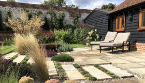 Loungers in the sun, perfect for garden living in Hertfordshire