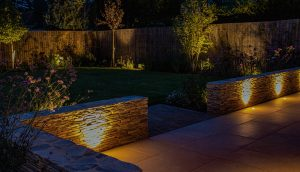 Bespoke garden and lighting by garden designer Amanda Broughton