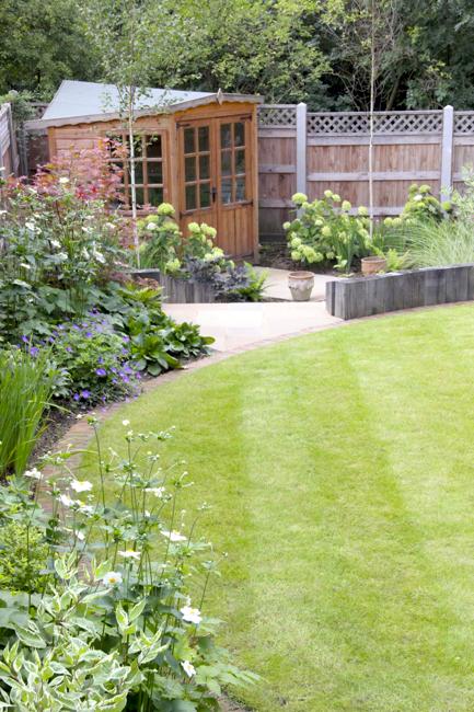 Sleeper terracing in North London garden design