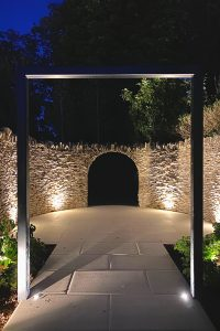 Lighting to create drama in Herts. garden design